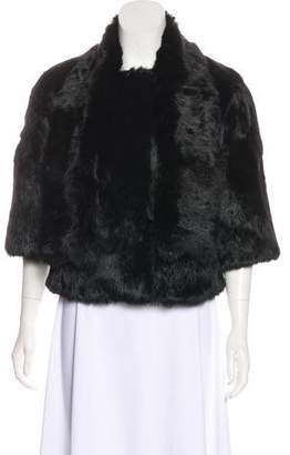 Theory Fur Mock Collar Jacket