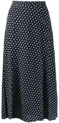 MICHAEL Michael Kors dot print midi skirt