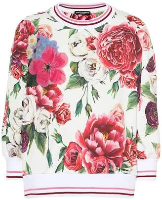 Dolce & Gabbana Floral-printed cotton sweater