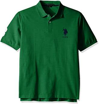 U.S. Polo Assn. Men's Big and Tall Solid Short-Sleeve Pique Polo Shirt