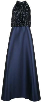 Sachin + Babi sequinned panel gown
