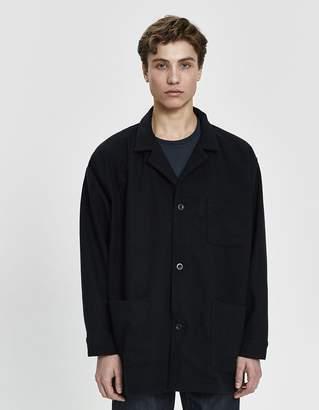 orSlow Pajama Wool Shirt in Black