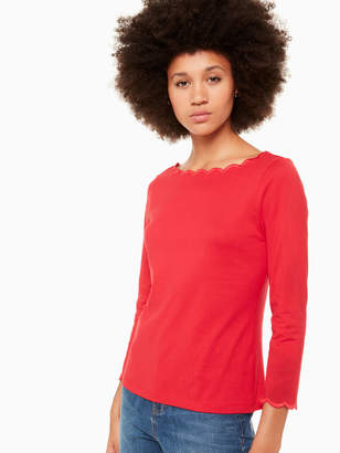 Kate Spade scallop knit top