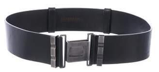 Kaufman Franco KAUFMANFRANCO Leather Push-Closure Belt