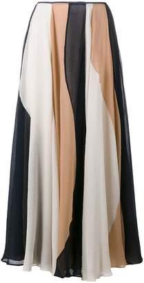 Roksanda stripe midi skirt