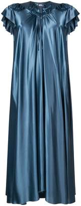 Balenciaga ruffle-trimmed silk dress