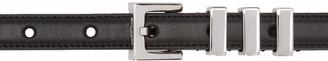 Saint Laurent Black Leather 3 Passants Belt $445 thestylecure.com