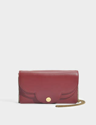 See by Chloe Polina Wallet on Chain in Sienna Red Lamb Skin