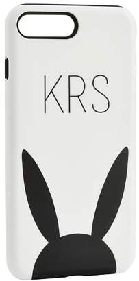 Pottery Barn Teen The Emily & Meritt Phone Case, IPhone 7 Plus, Black/White Bunny Ears