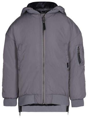 Molo Hollyn Biker-Style Hooded Jacket, Size 4-12