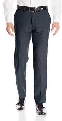 Haggar Men's Performance Micro Melange Slim Fit Plain Front Slack
