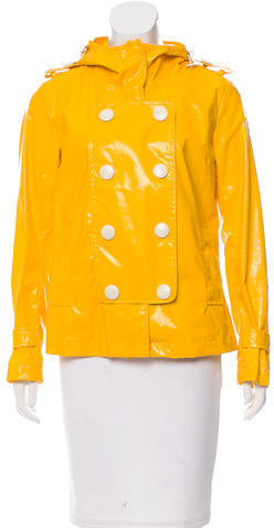 MonclerMoncler Double-Breasted Rain Coat