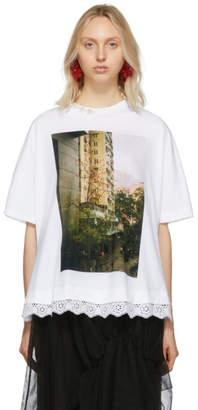 Simone Rocha White Hong Kong Building T-Shirt