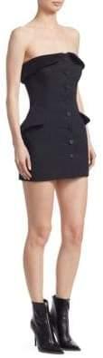 Alexander Wang Strapless Tuxedo Mini Dress