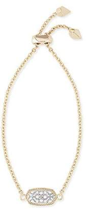 Kendra Scott Signature Elaina Gold Adjustable Chain Bracelet In Silver Filigree