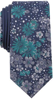 Bar III Men's Lama Floral Skinny Tie, Created for Macy's