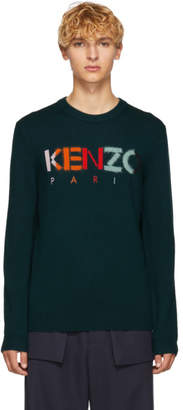 Kenzo Green Paris Logo Sweater