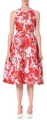 Carolina Herrera Sleeveless Patterned A-Line Dress