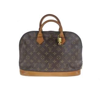 Louis Vuitton Vintage Alma Brown Cloth Handbag