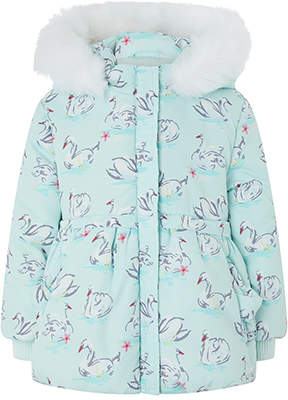 Monsoon Baby Sienna Swan Print Padded Coat