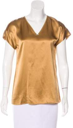 Lafayette 148 Short Sleeve Silk Top