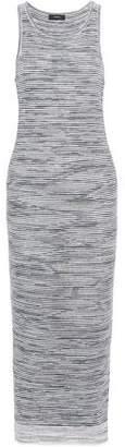 Theory Marled Linen-Blend Midi Dress