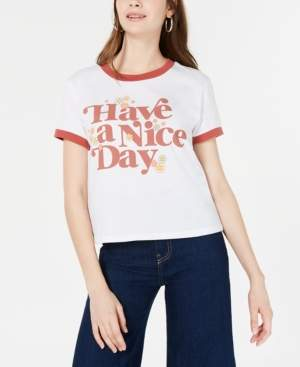 Mad Engine Juniors' Have A Nice Day Graphic T-Shirt