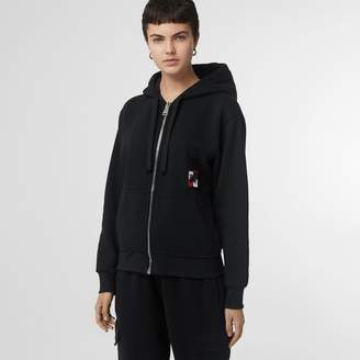 Burberry Chequer EKD Cotton Jersey Hooded Top
