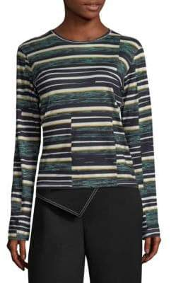 Derek Lam Striped Long-Sleeve Top