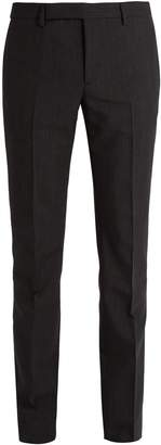 Saint Laurent Slim-leg pinstripe wool-blend suit trousers