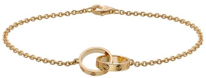 Yellow Gold Love Chain Bracelet