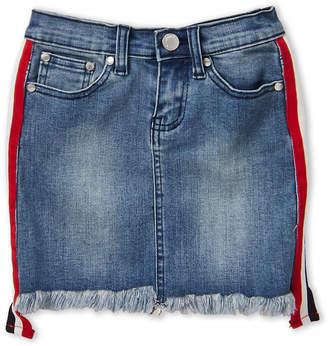 Pinc Premium Girls 7-16) Stripe Taping Denim Skirt
