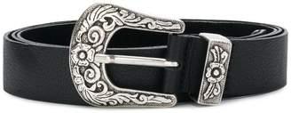 B-Low the Belt engraved buckle belt