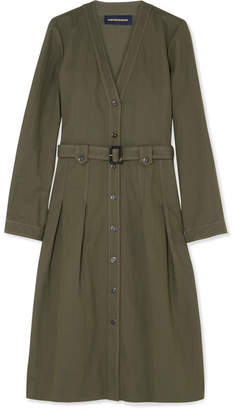 Vanessa Seward Friend Belted Canvas Dress - Army green