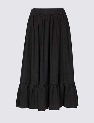 Marks and Spencer Textured Pencil Midi Skirt