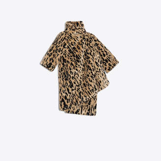 Balenciaga Classic revisited Opera coat, leopard fake fur