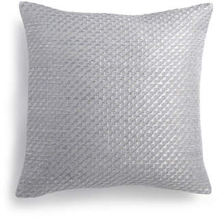 "Calvin Klein Stepped Twill 14"" Square Decorative Pillow Bedding"
