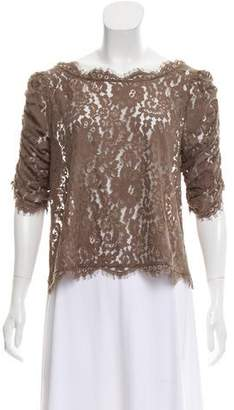 Joie Lace Ruched Blouse