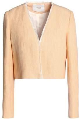 Maje Frayed Woven Jacket