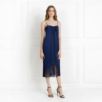 Rachel Zoe Brighton Wrap-Effect Fringed Midi Dress