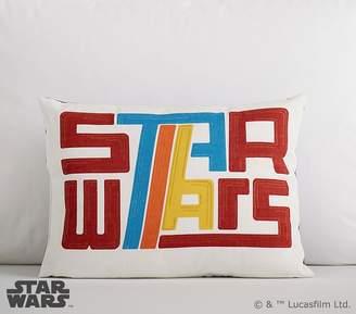 "Pottery Barn Kids Star Wars Logo Pillow, 18x18"""