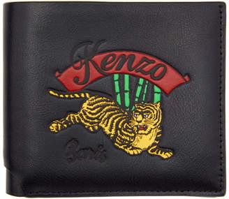 Kenzo Black Jumping Tiger Wallet