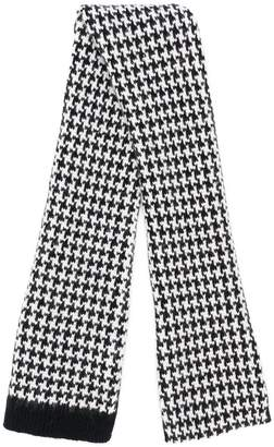 Holland & Holland Cashmere Knitted Houndstooth Scarf