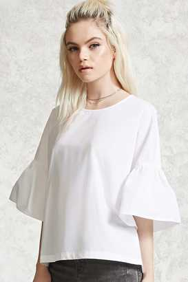 FOREVER 21+ Poplin Bell-Sleeve Top $19.90 thestylecure.com