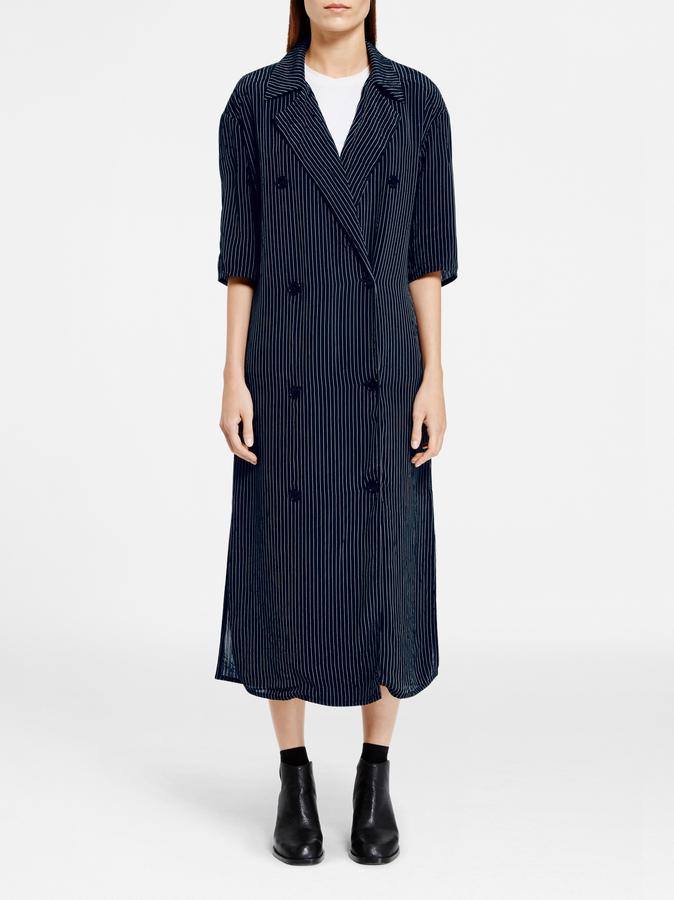 DKNYPinstripe Maxi Dress