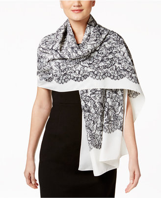 MICHAEL Michael Kors Printed Lace Oblong Wrap & Scarf in One $58 thestylecure.com