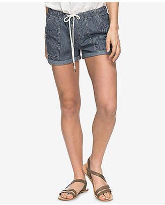 Roxy Juniors' Striped Chambray Soft Shorts