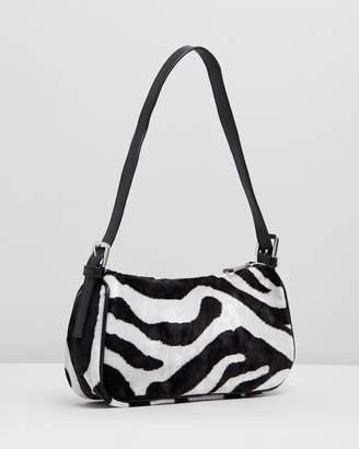 Topshop Kenya Zebra Print Shoulder Bag