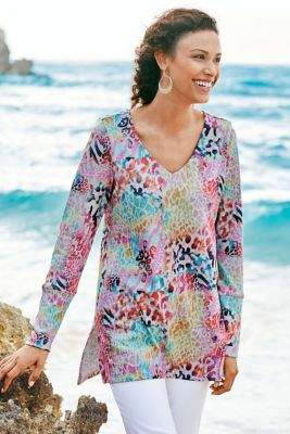 Soft Surroundings Wild Thing Tunic