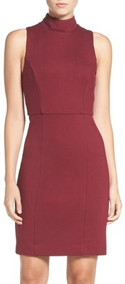 Women's French Connection 'High Line Lula' Ponte Sheath Dress $148 thestylecure.com